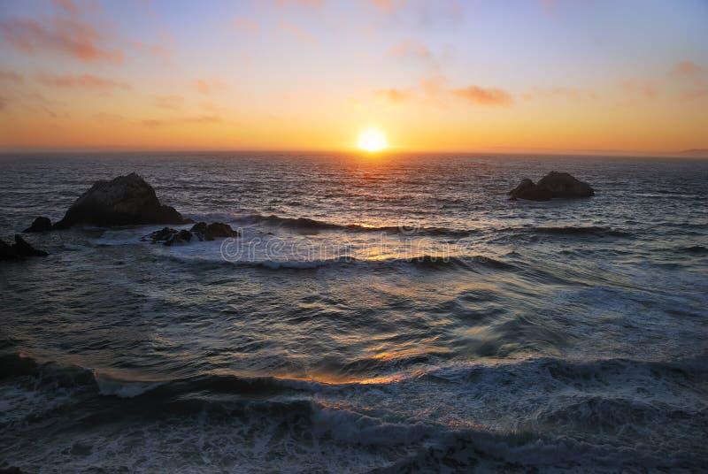 San Francisco Ocean Beach Sunset stock photos
