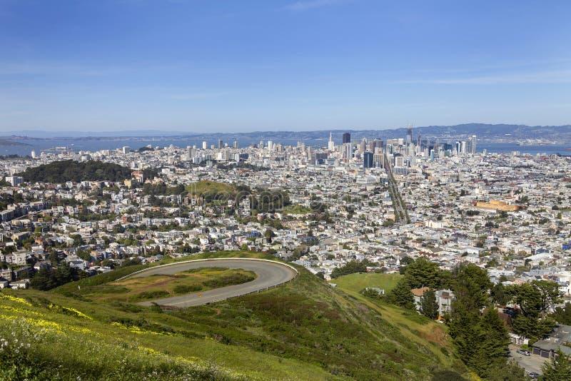 San Francisco - opinião gêmea dos picos fotos de stock royalty free