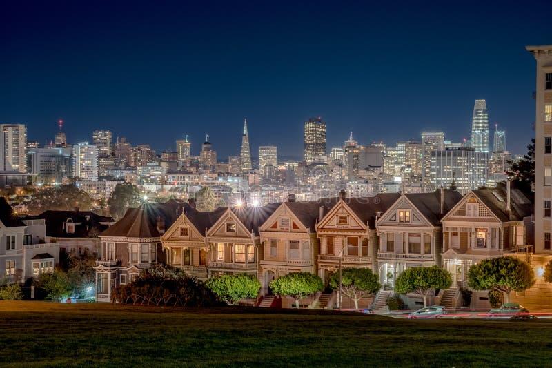 San Francisco på natten arkivfoto