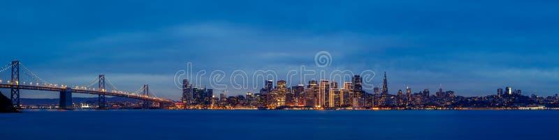 San Francisco półmroku linia horyzontu zdjęcie royalty free