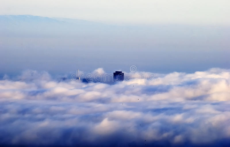 San Francisco in Pacific Clouds stock photos