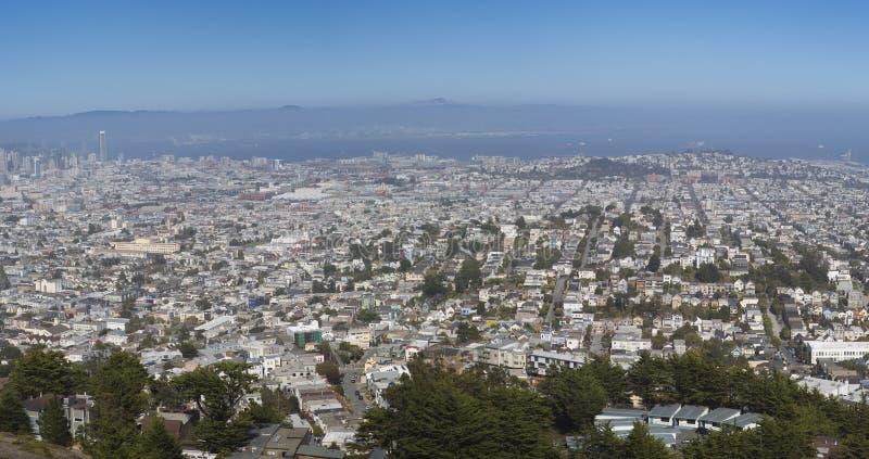 San Francisco Panoramablick lizenzfreie stockbilder