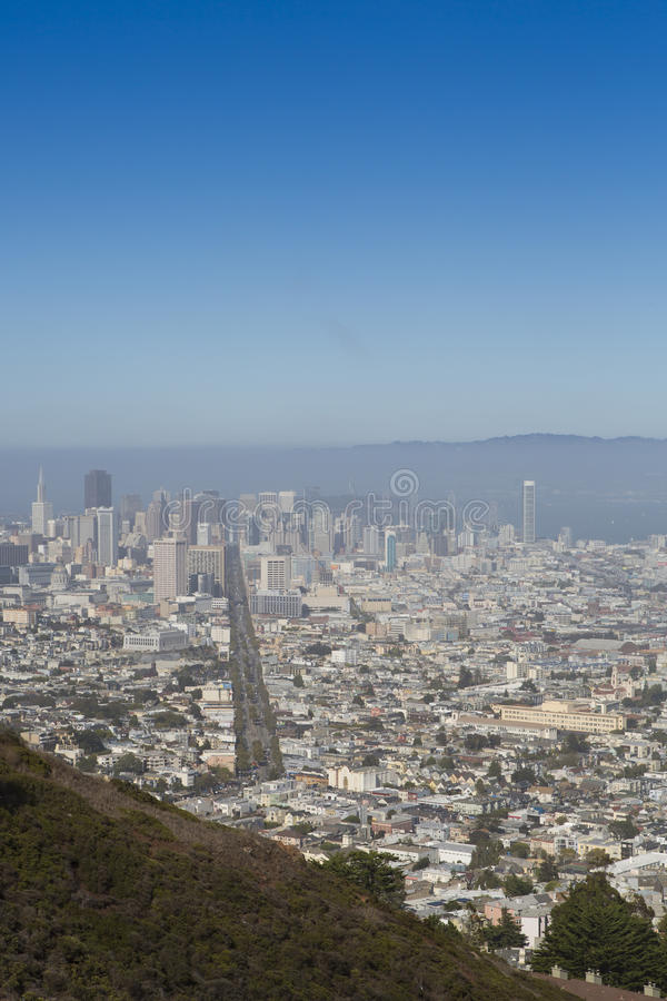 San Francisco Panoramablick stockfoto