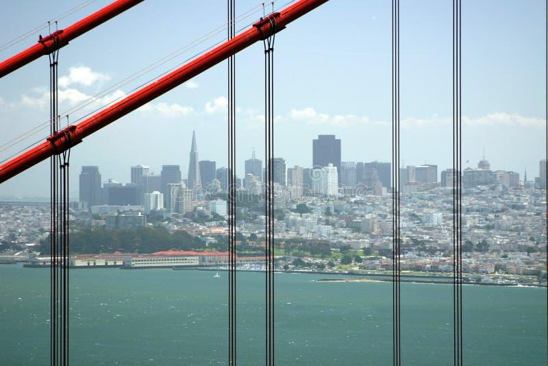 San Francisco par la porte d'or images stock