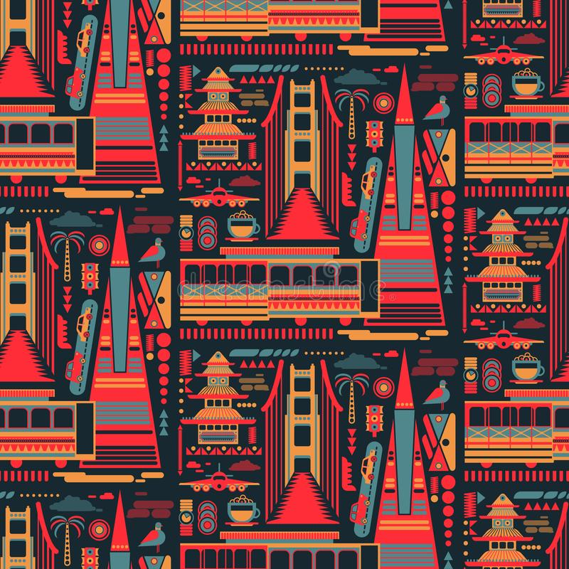 Free San-Francisco Pattern Seamless Design Graphic Royalty Free Stock Images - 154731489