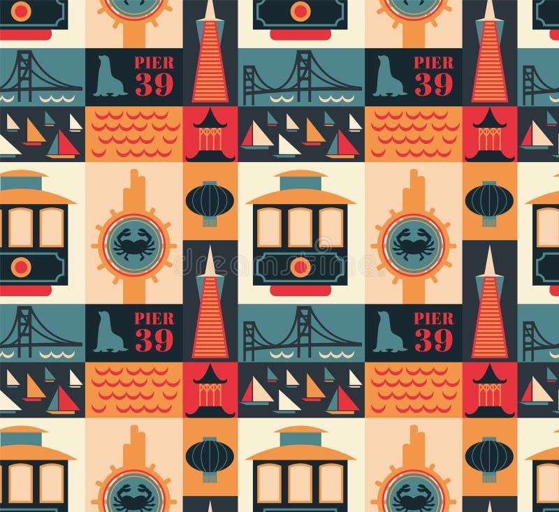 Free San Francisco Pattern Seamless Design Illustration Stock Image - 156090021