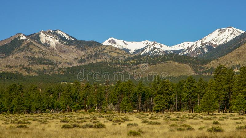 San Francisco peaks in Flagstaff, Arizona. Beautiful landscape view of the San Francisco peaks mountain range in Flagstaff, Arizona. Shots were performed with a stock image