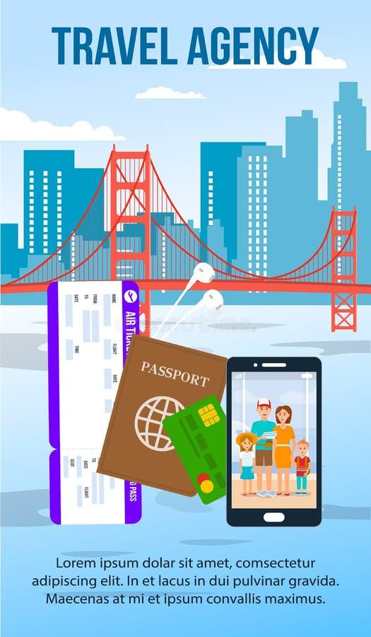 San Francisco pejzażu miejskiego Płaska ulotka z tekst przestrzenią ilustracji