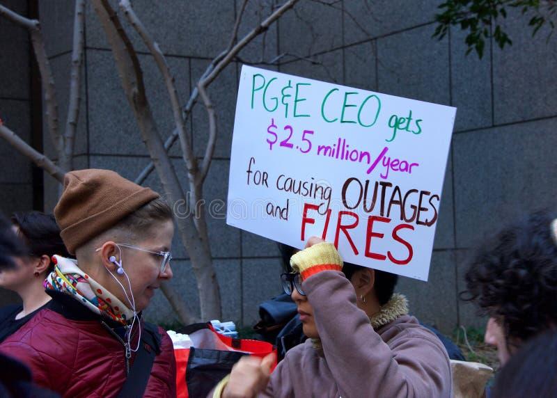 San Francisco PG&E protest royalty free stock image