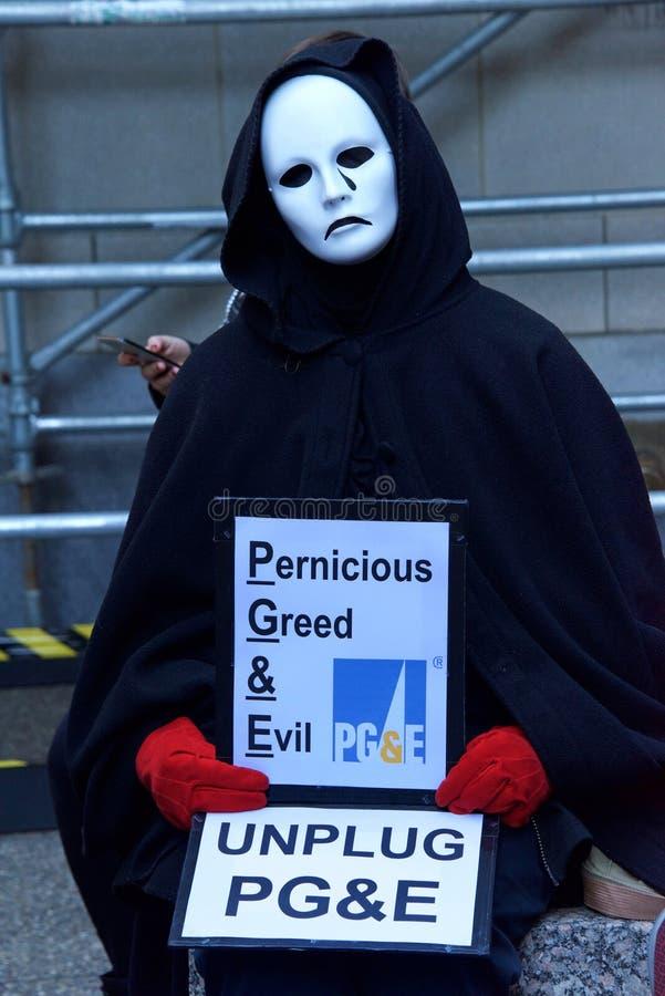 San Francisco PG&E protest royalty free stock photos