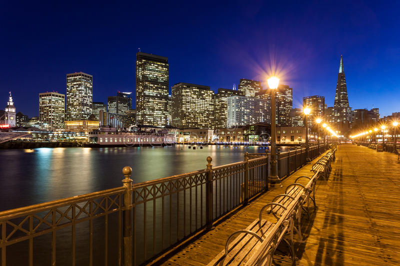 San Francisco from Pier Seven stock photos