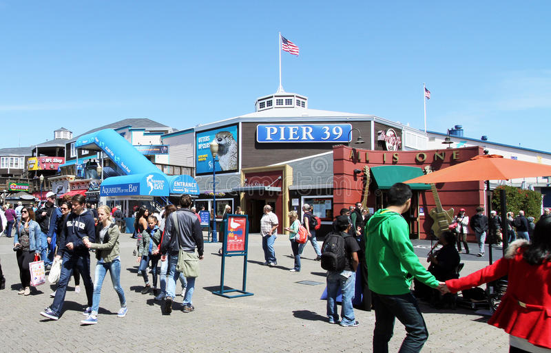 Download San Francisco Pier 39 editorial photography. Image of flocked - 40564462