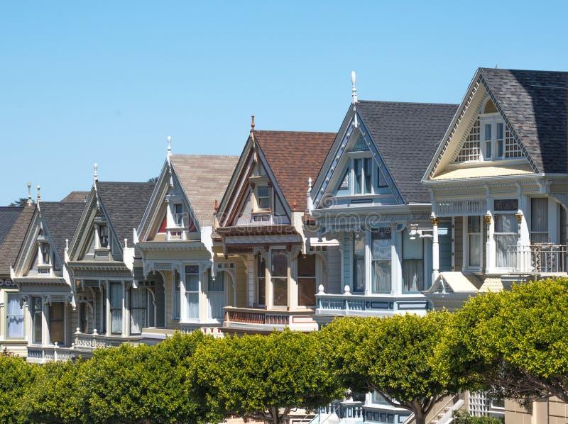 San Francisco pintou senhoras foto de stock royalty free