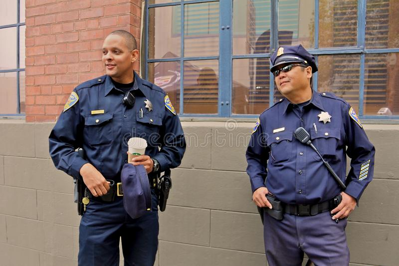 San Francisco Police at Ghirardelli festival stock photos