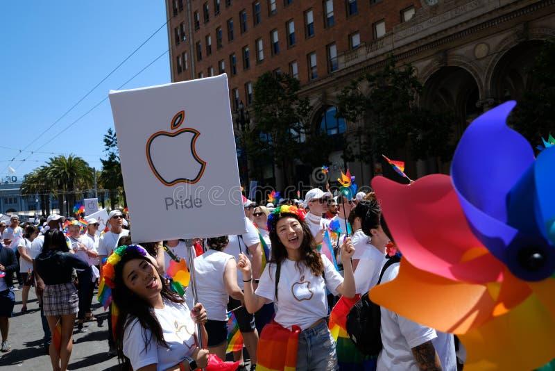 San Francisco Pride-parad 2019 royaltyfria foton