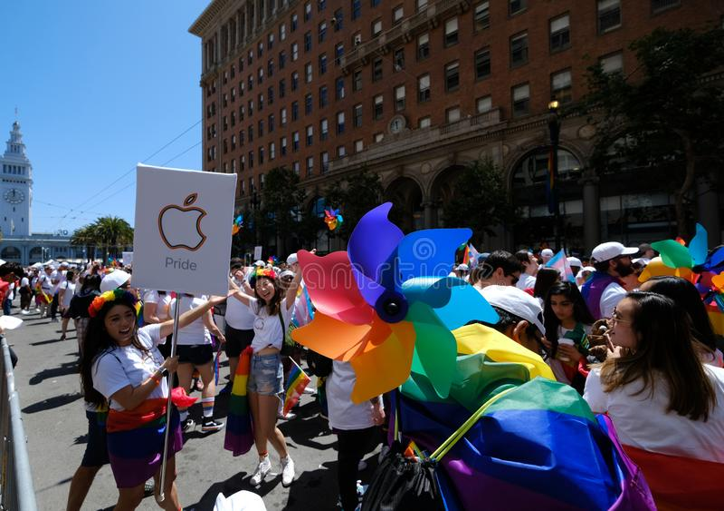 San Francisco Pride-parad 2019 fotografering för bildbyråer