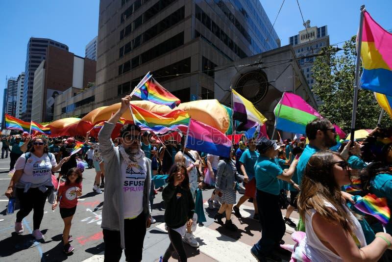 San Francisco Pride-parad 2019 arkivbilder