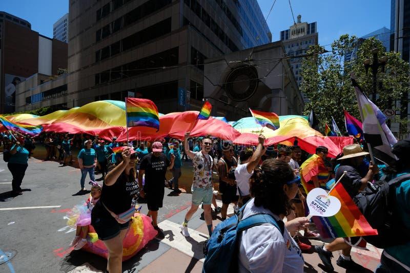 San Francisco Pride-parad 2019 arkivbild