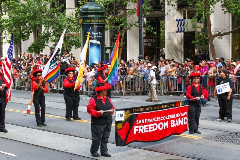 San Francisco Pride Parade Lesbian Gay Freedom Band stock photography