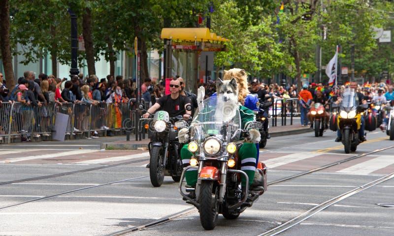 San Francisco quarante-neuvième Pride Parade gai annuel image libre de droits