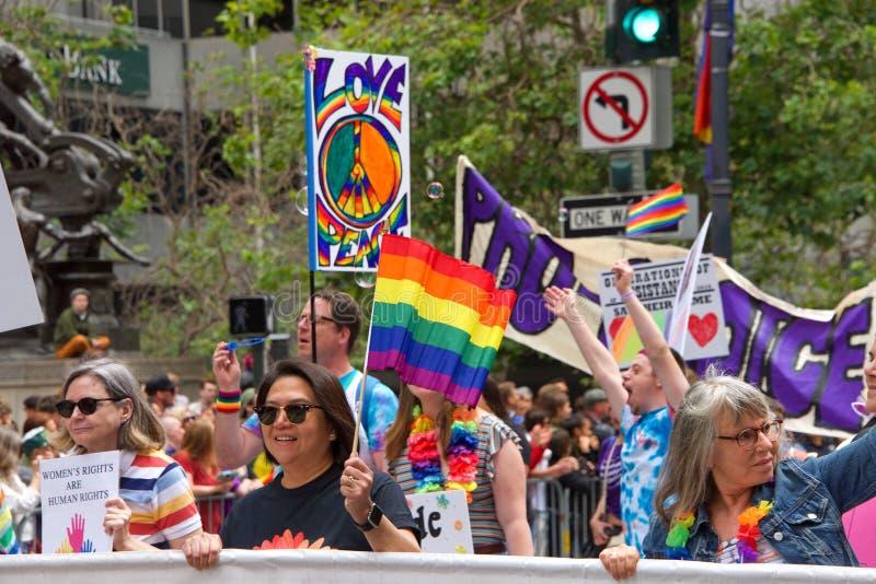 San Francisco quarante-neuvième Pride Parade gai annuel photo stock