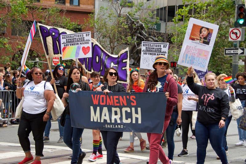 San Francisco quarante-neuvième Pride Parade gai annuel photos stock