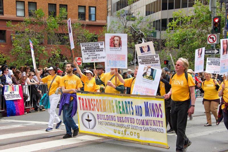 San Francisco quarante-neuvième Pride Parade gai annuel image stock