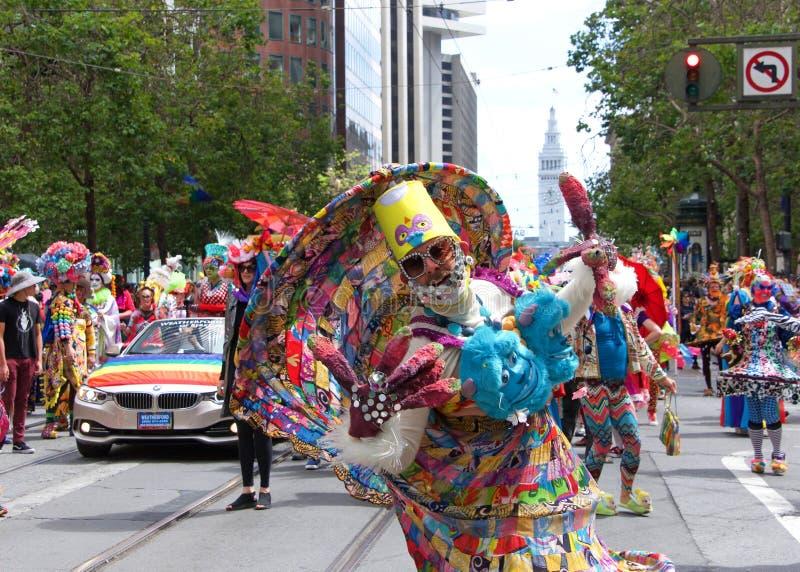 San Francisco quarante-neuvième Pride Parade gai annuel images libres de droits