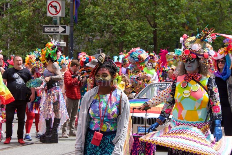 San Francisco quarante-neuvième Pride Parade gai annuel photographie stock