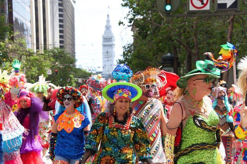 San Francisco quarante-neuvième Pride Parade gai annuel photos libres de droits