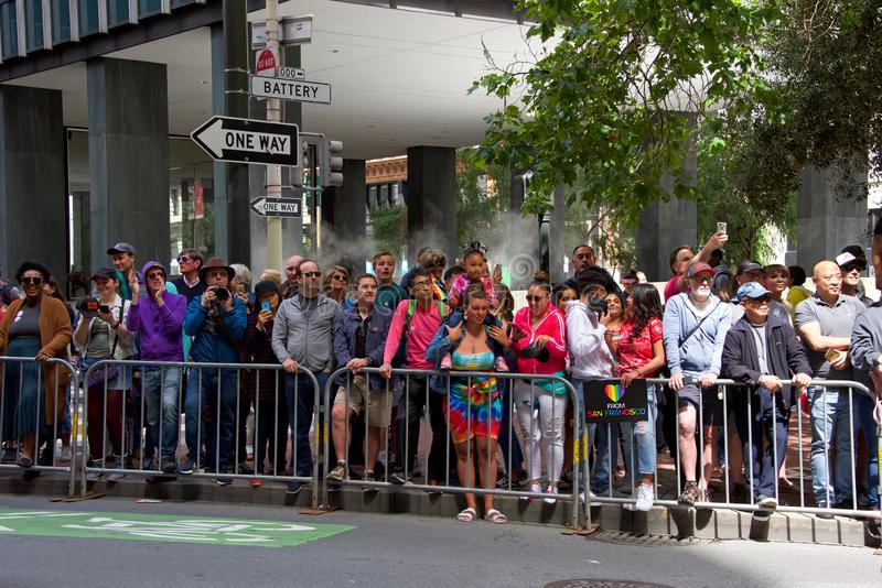 San Francisco quarante-neuvième Pride Parade gai annuel photographie stock libre de droits