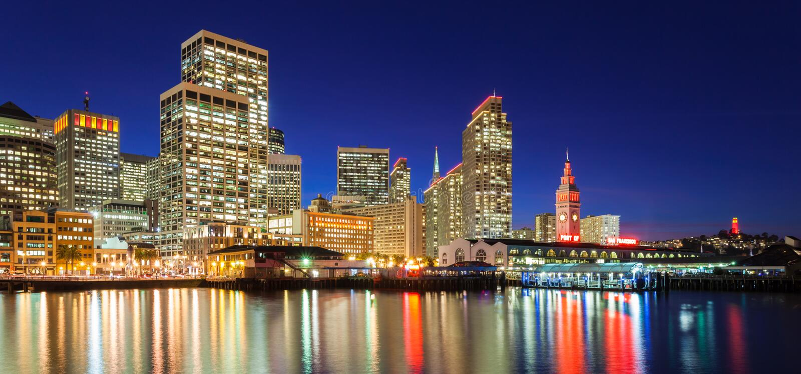 San Francisco in Red and Gold royalty free stock image