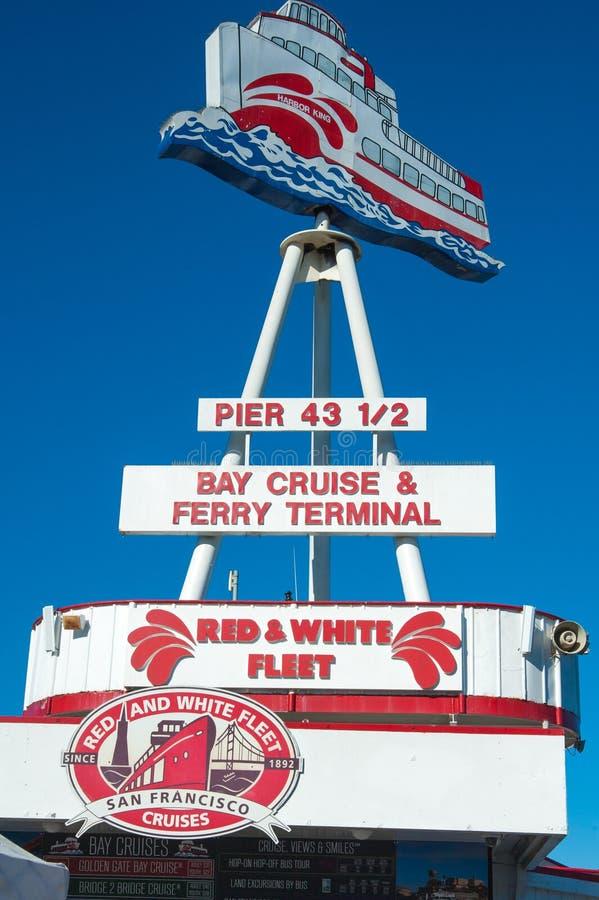 San Francisco Red och vit flotta royaltyfria bilder