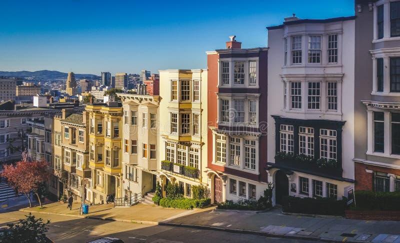 San Francisco Row Homes imagens de stock