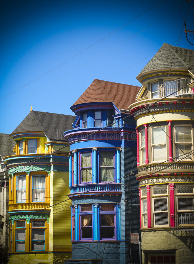 Download San Francisco row houses stock photo. Image of dramatic - 27224876