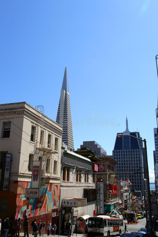 San Francisco's Chinatown is one of North America's largest Chinatowns royalty free stock image