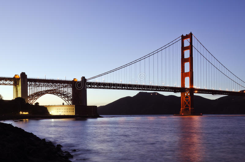 Download San Francisco's Golden Gate Bridge At Dusk Stock Photo - Image: 30621966