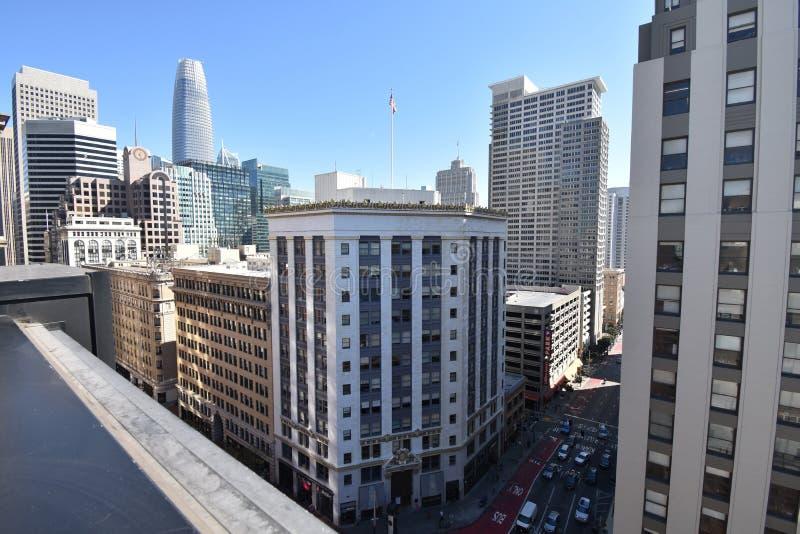 San Francisco-` s Hearst Gebäude stockfotografie