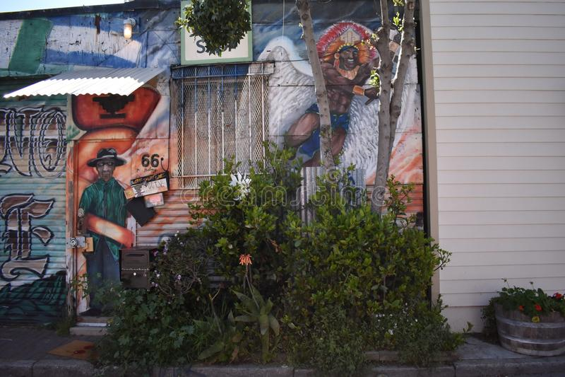 San Francisco`s world recognized Balmy Alley murals, 13. San Francisco`s Mission District has the highest concentration of murals of any neighborhood in the stock photos