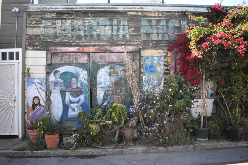 San Francisco`s world recognized Balmy Alley murals, 10. San Francisco`s Mission District has the highest concentration of murals of any neighborhood in the stock photos