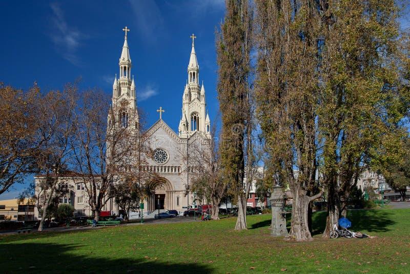 San Francisco, Saint Peter e Paul Church - pouco Itália, do centro, San Francisco, EUA fotografia de stock