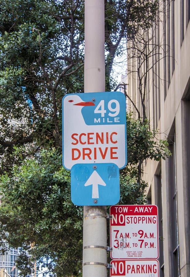San Francisco Scenic Drive imagens de stock royalty free