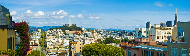 San Francisco-Skyline stockbilder