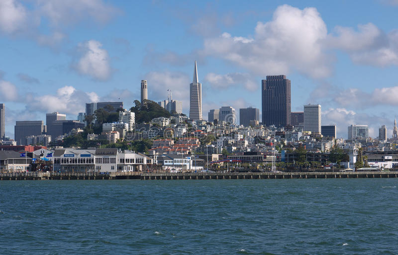 San Francisco skyline from the Bay royalty free stock photos