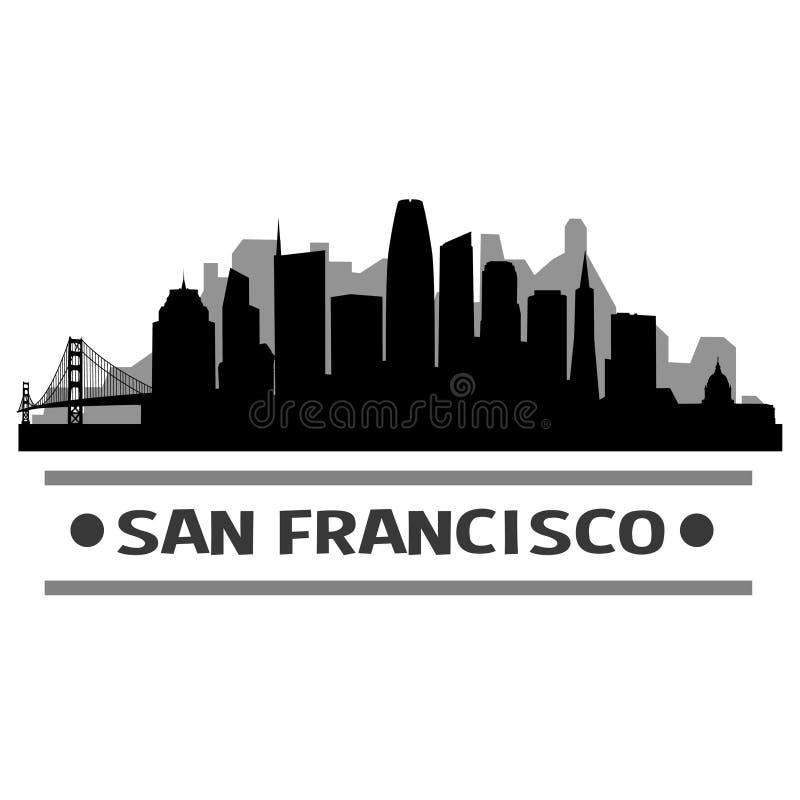 San Francisco Skyline City Icon Vector Art Design illustrazione vettoriale