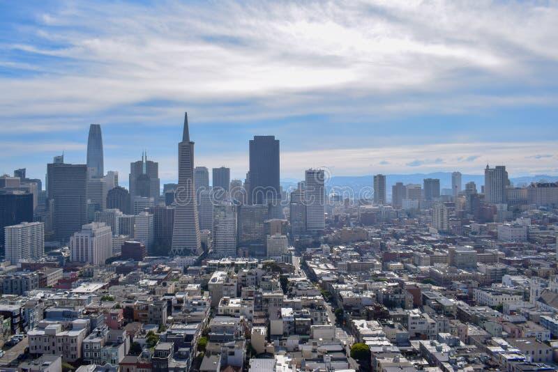 San Francisco Skyline - Financieel District royalty-vrije stock foto's
