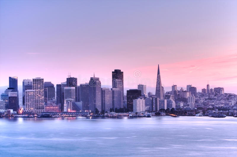 San Francisco skyline . HDR royalty free stock photography