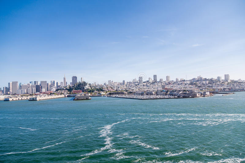 San Francisco Skyline from Sea royalty free stock images