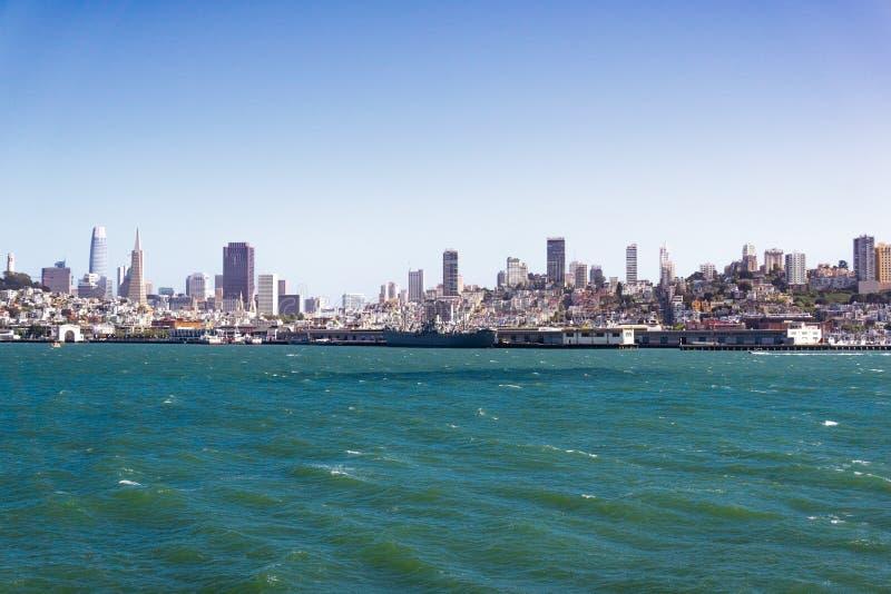 San Francisco skyline on a sunny day, California royalty free stock image