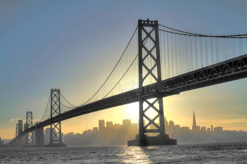 San Francisco Skyline at Sunset stock photos